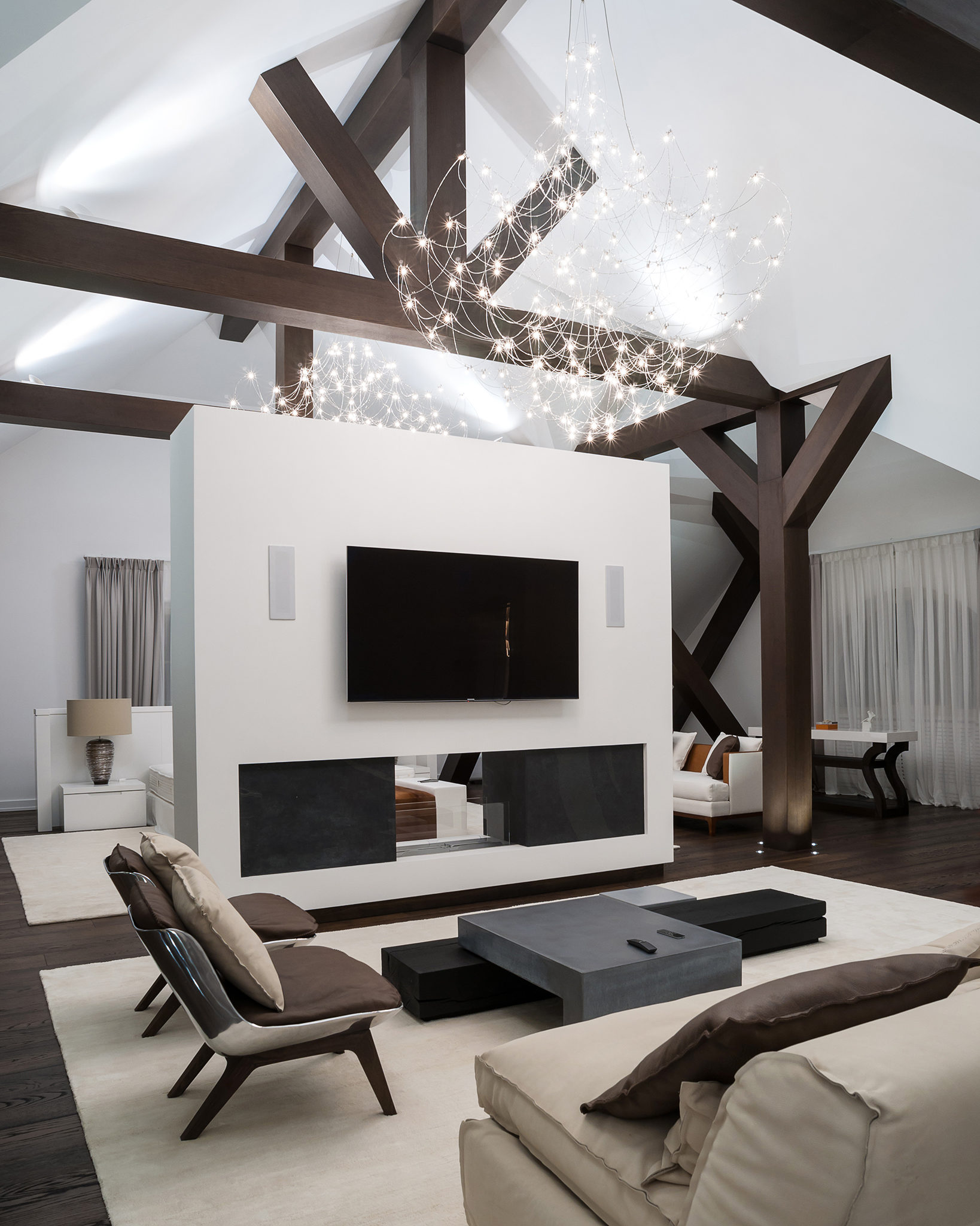 Interior photography of a living room in a large house