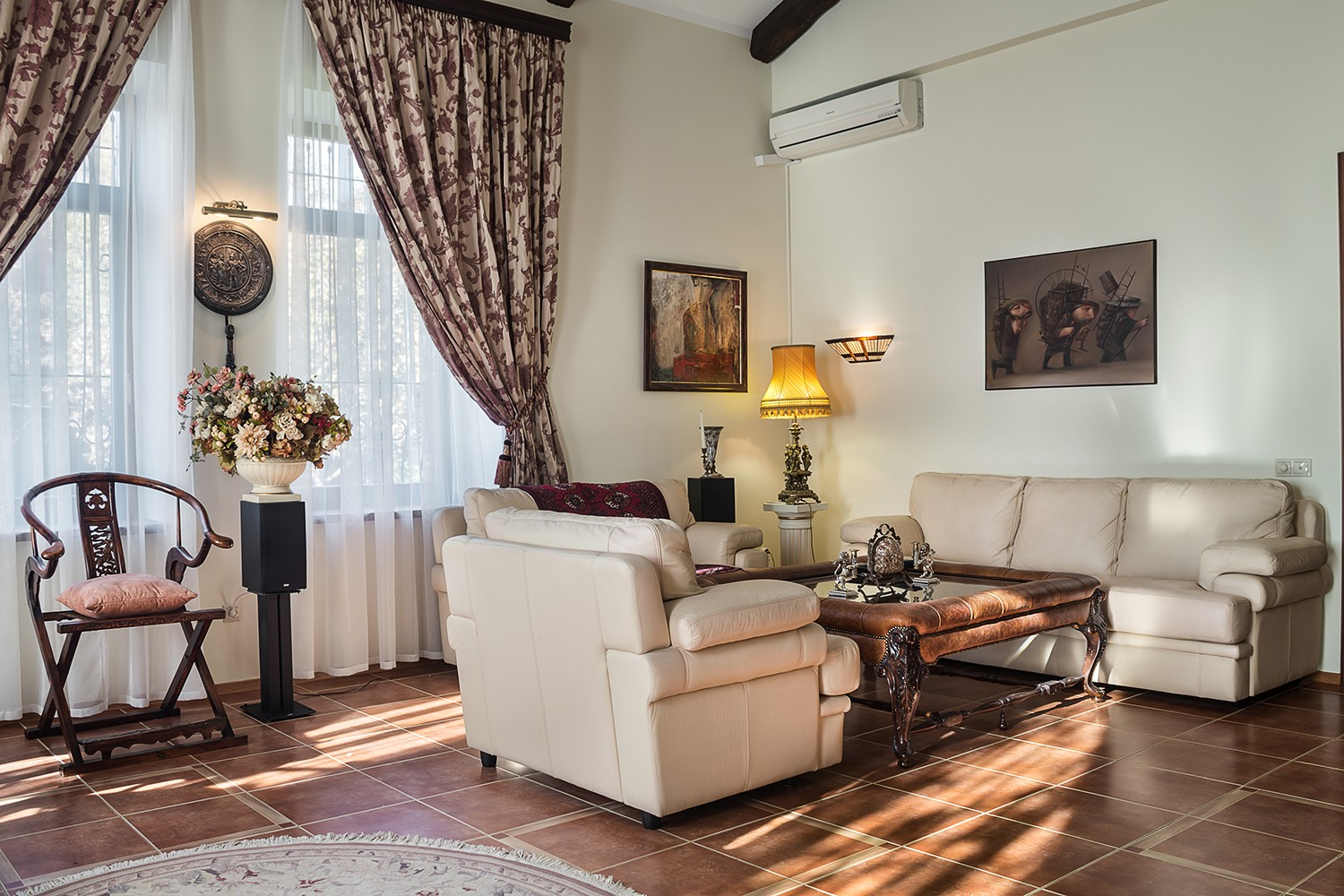 Interior of a living room in a country house. professional real estate photography for sale