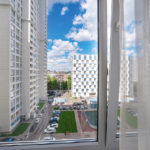Apartment for sale. Interiors, views from the windows and appearance of the building