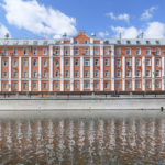 Three panoramic photos: Moscow architecture