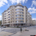 Two residential buildings in the center of Moscow. Architecture photography