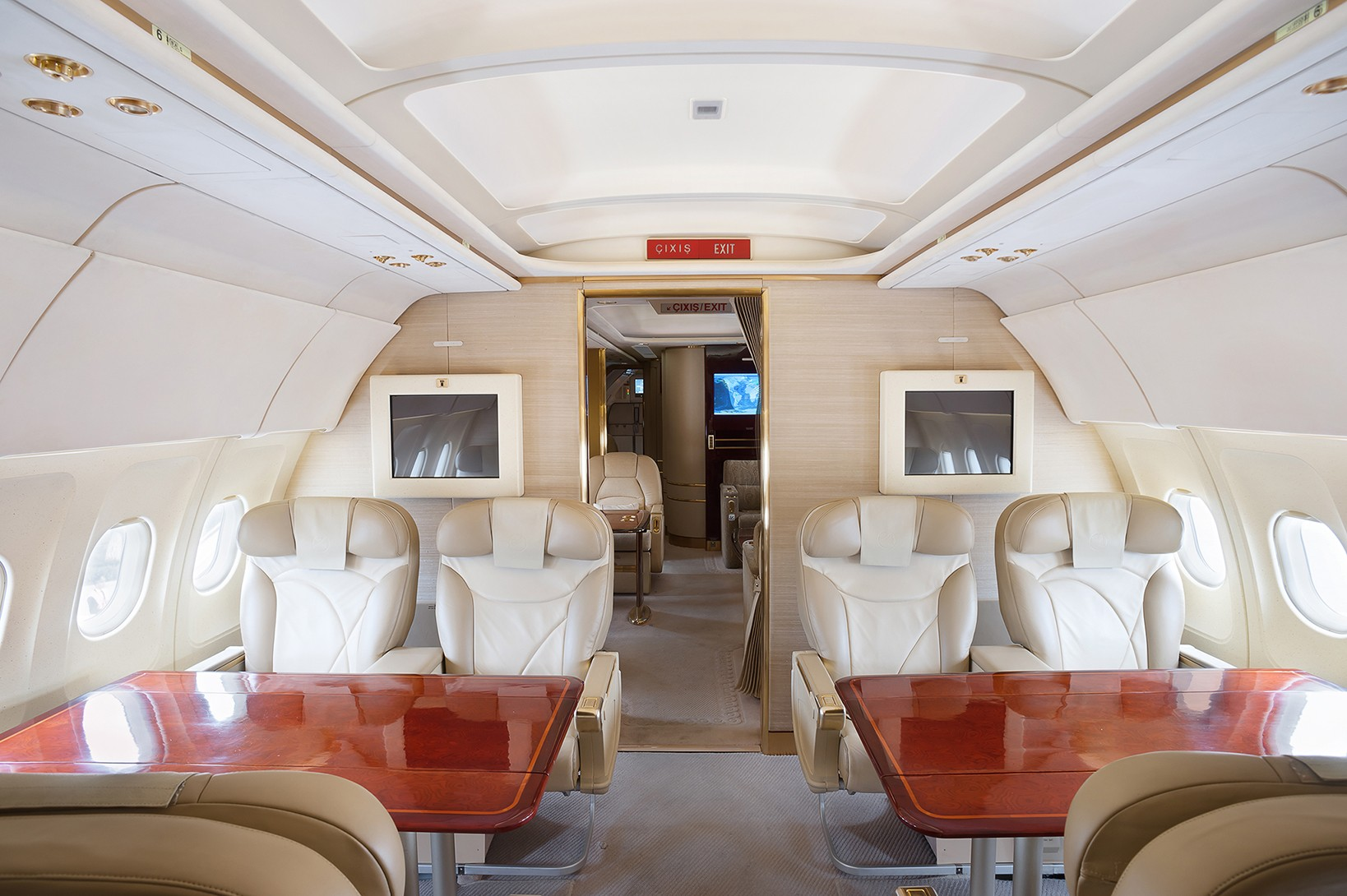 business jet salon in the gallery of the interior photographer