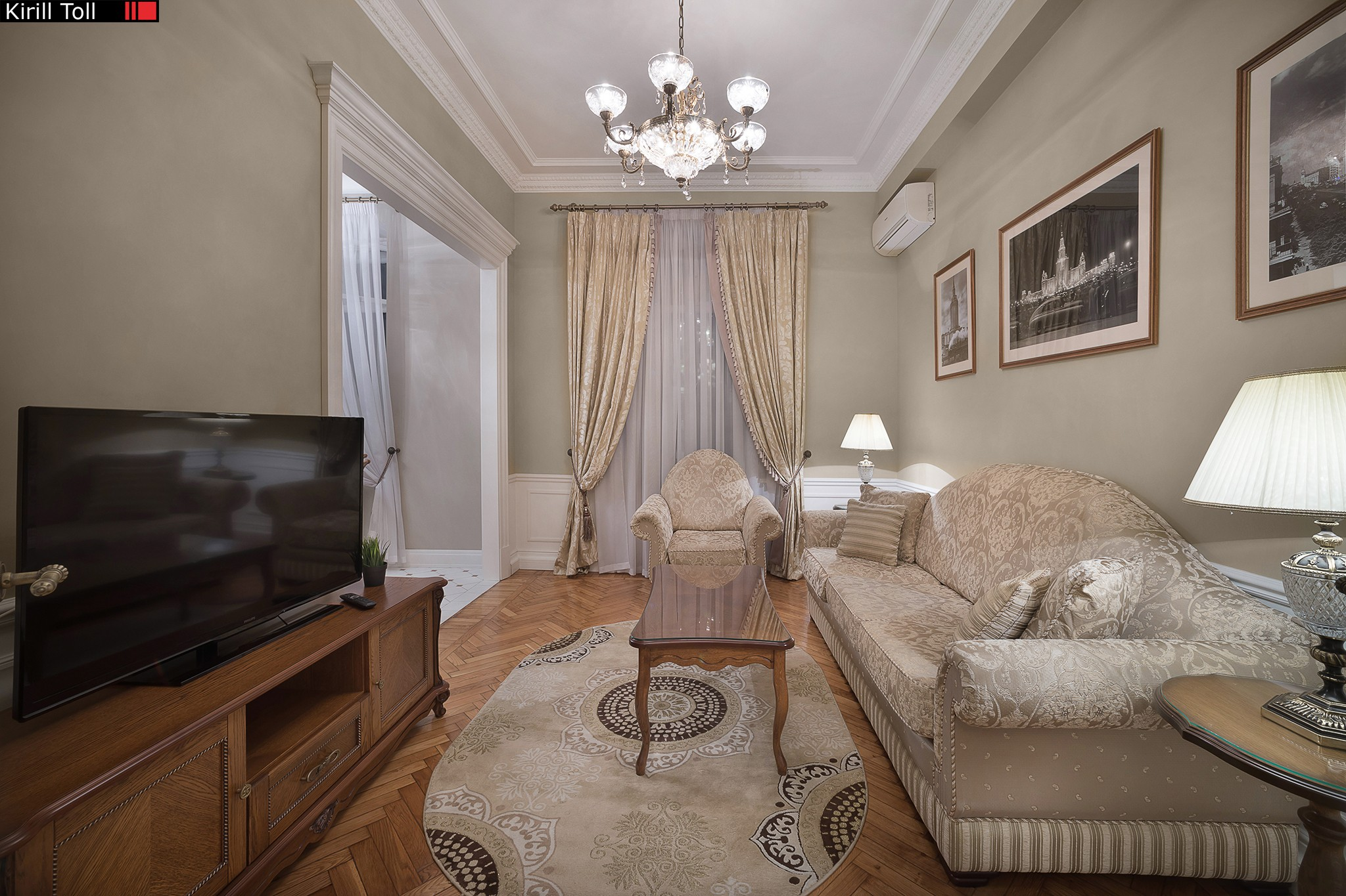 Interior photography of apportionments for rent in Moscow. Photographer Kirill Toll