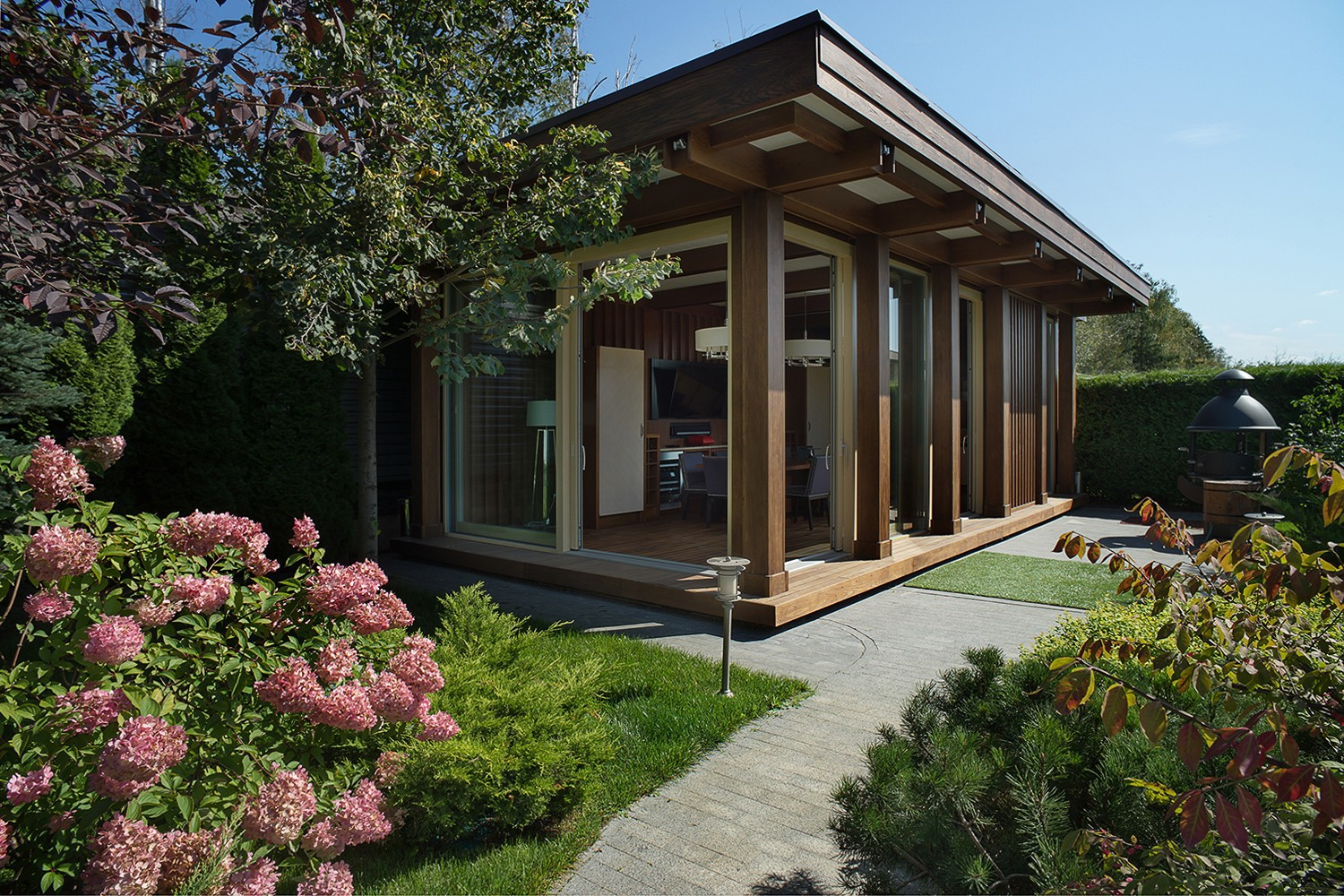 Architecture and interior of a summer house. Professional photographer Kirill Toll Moscow