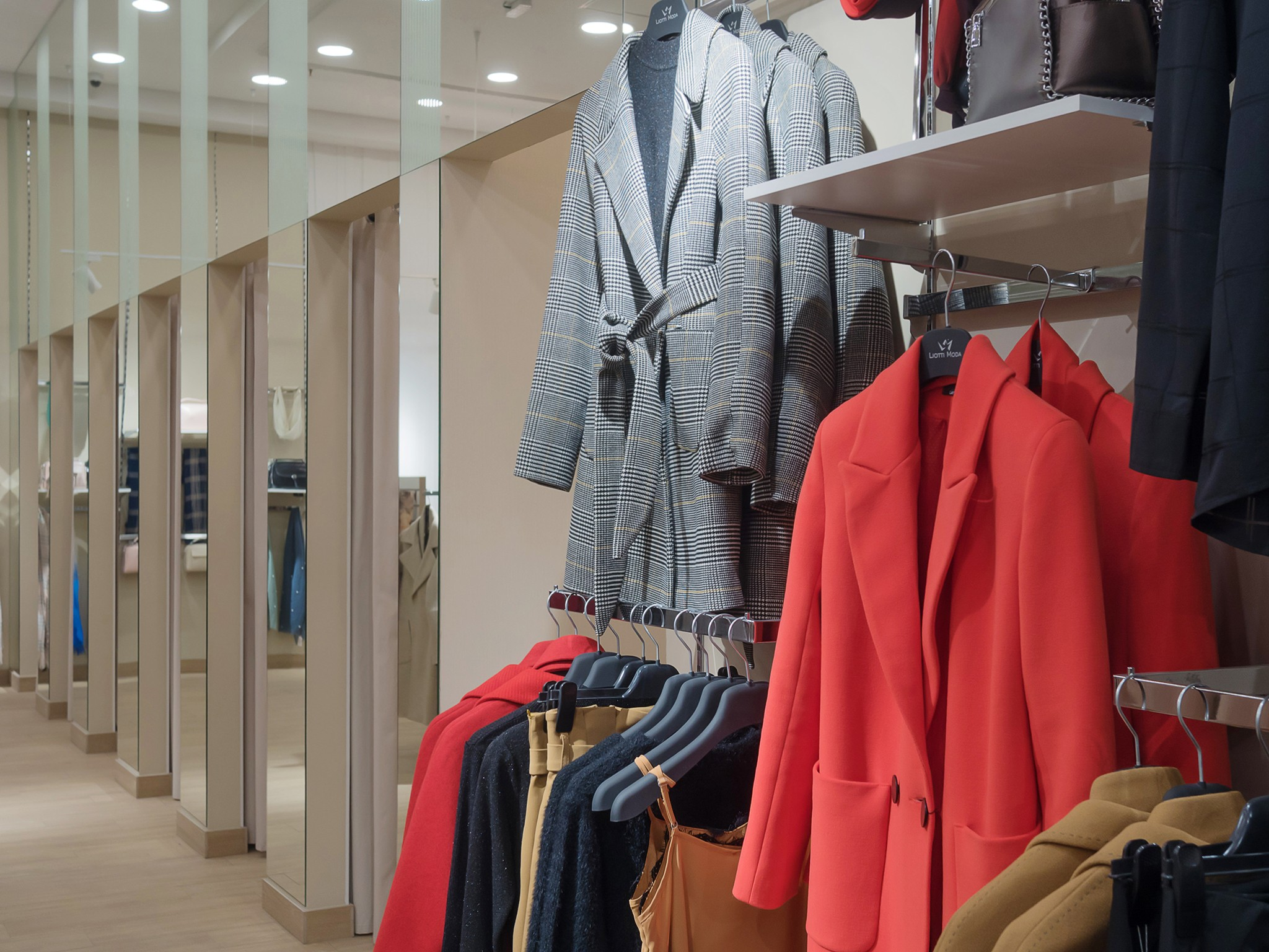 nterior of a clothing boutique. interior photography for the store by a professional photographer Moscow