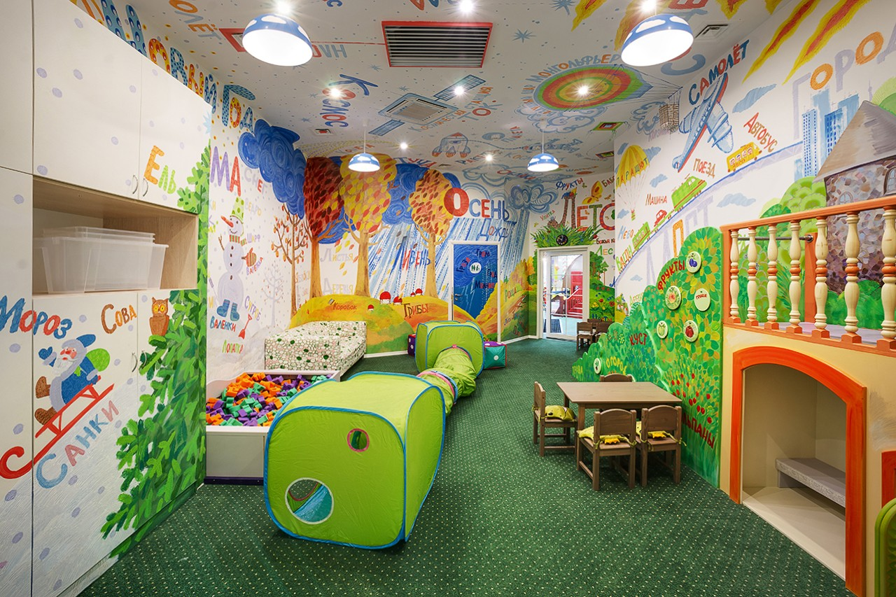 Rooms for children's games. Photos of interiors