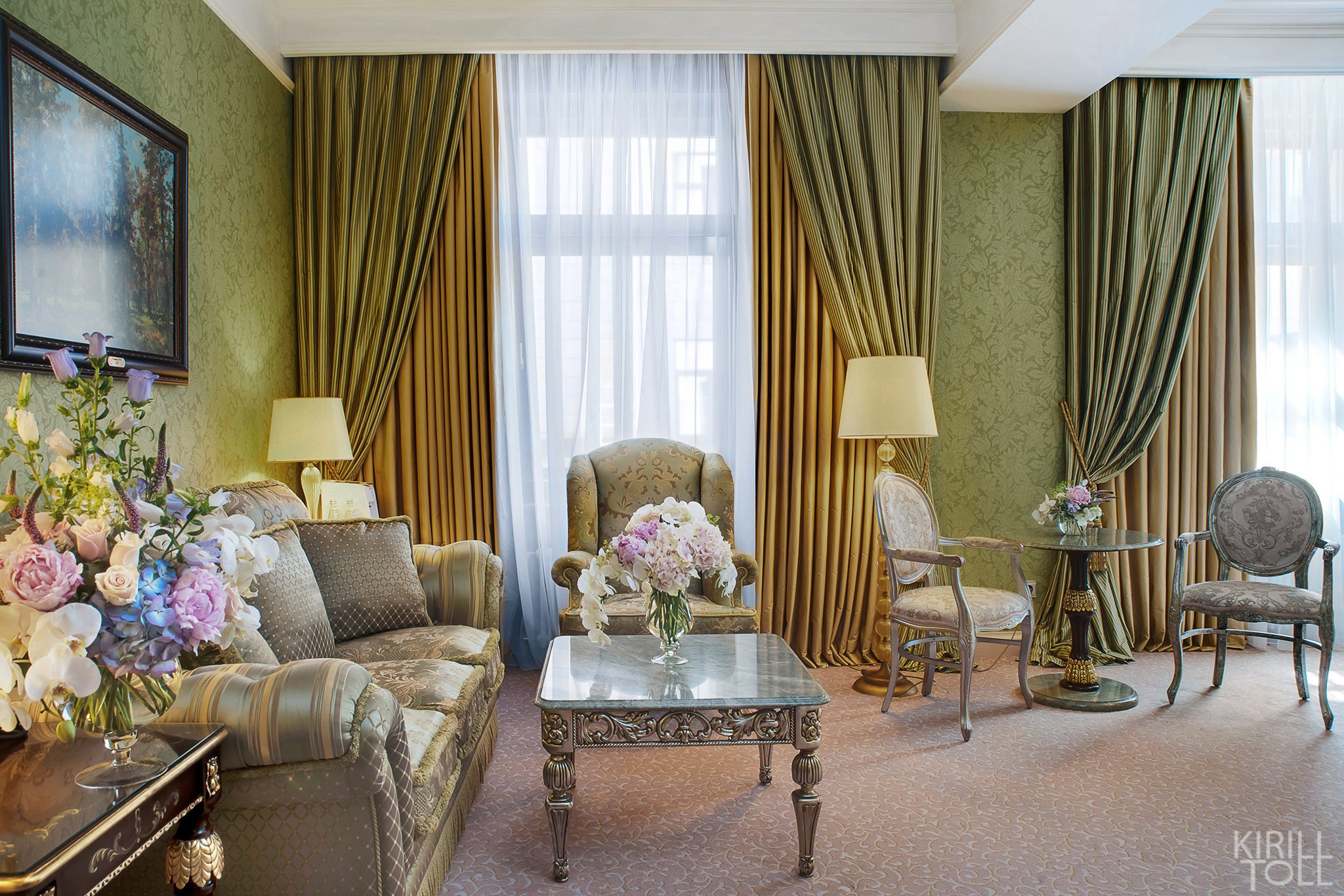 Front photos of hotel rooms. Photographer's work for the presentation of apartments