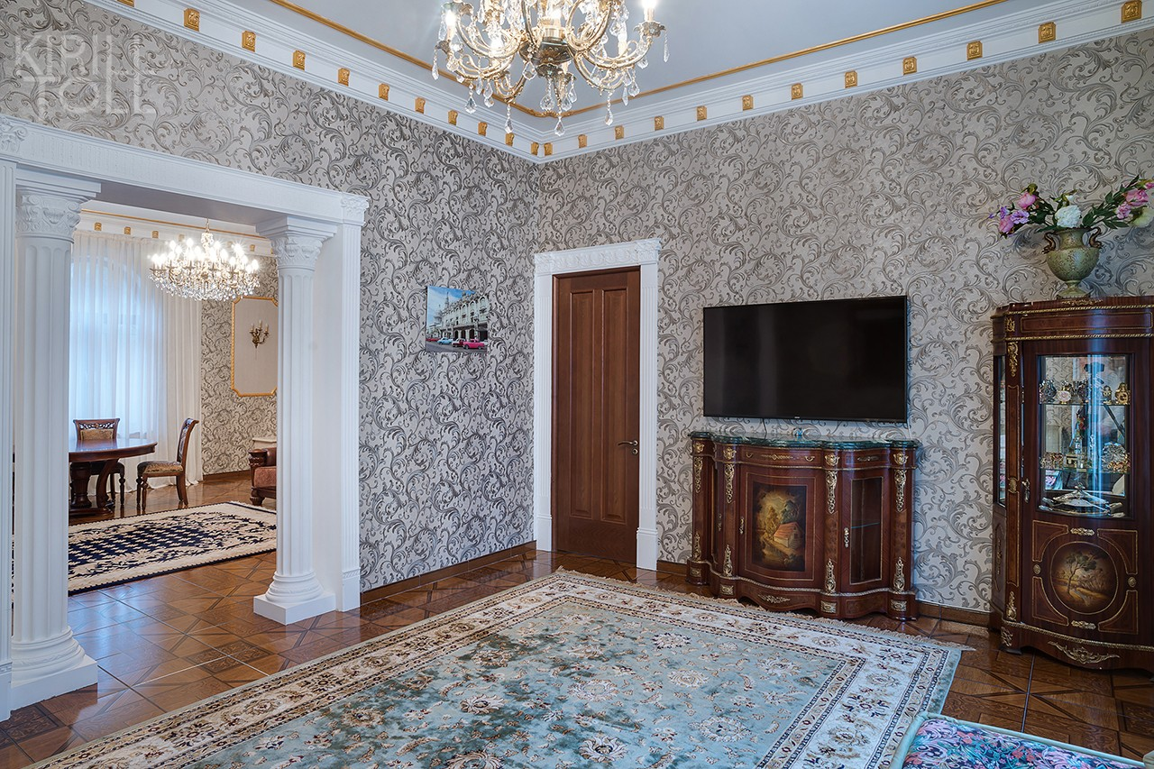 Professional photographs of the interior of a house near Moscow in a presentation of real estate for sale made by interior photographer Kirill Toll