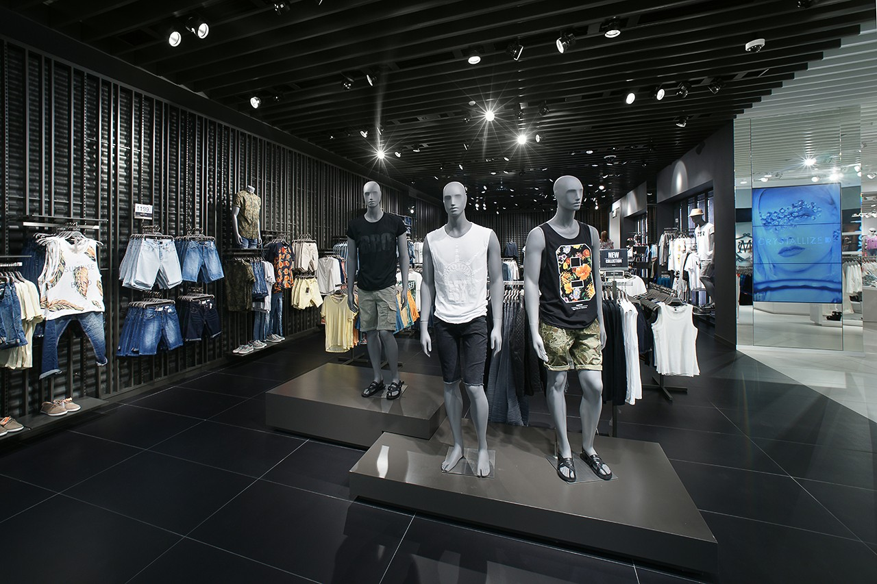 Clothing store. Interior photography