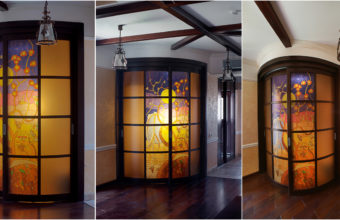 Interior photography at different viewing angles i.e. with lenses of different focal lengths