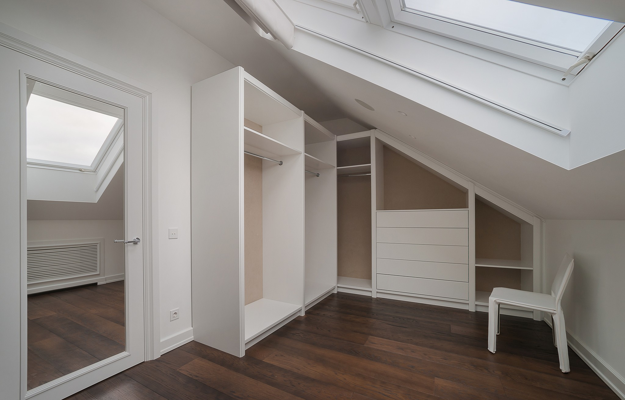 Wardrobe in the format of interior photography
