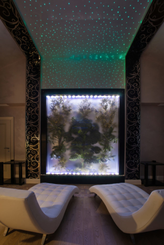 Interior photography of small rooms with diode illumination