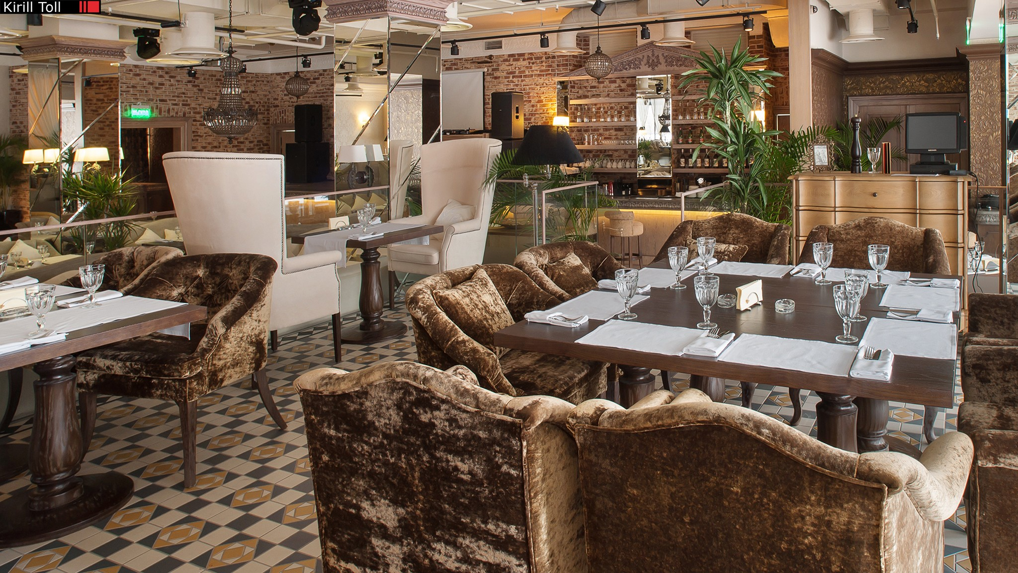 Photos of the interior of the restaurant for the catalog and the site