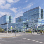 Glass and concrete buildings. Exterior Photography