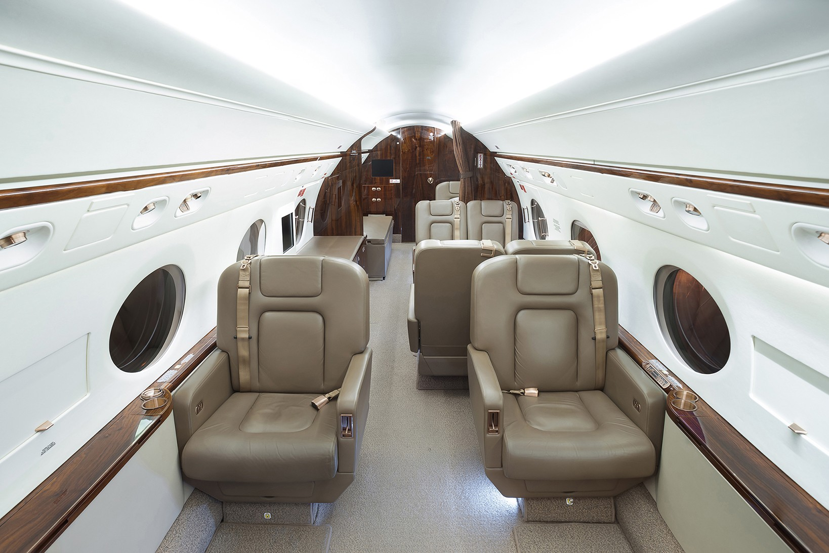 interior of business aviation salon in the portfolio of the photographer