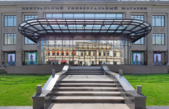 architectural photography of shopping centers in Moscow