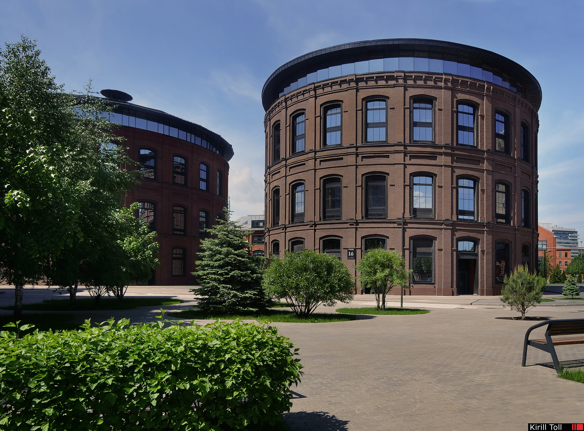 Architectural photography of offices in the former factory. Professional photographer Kirill Toll. Moscow.