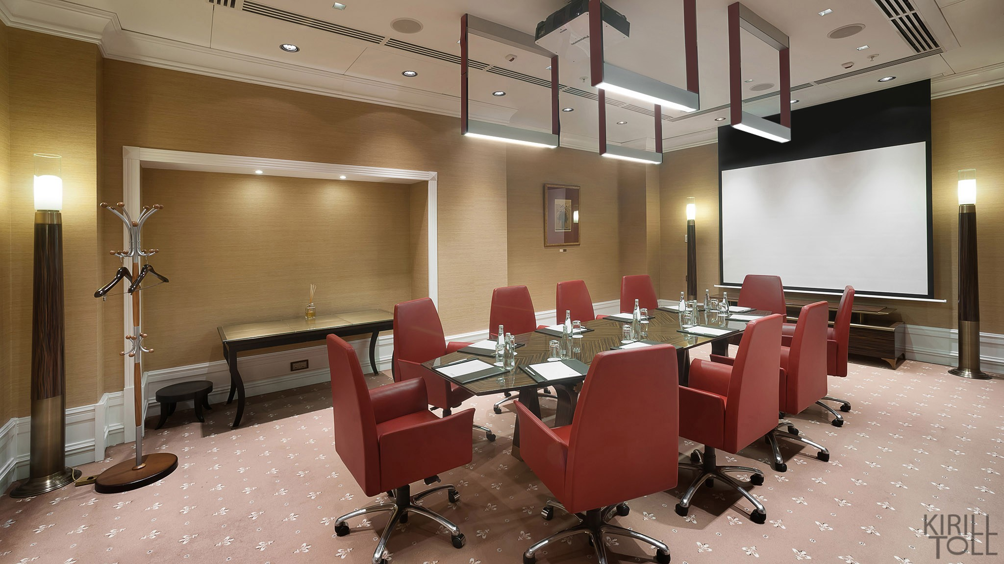 Photos of the interiors of the meeting rooms. Photographer Kirill Toll. Moscow