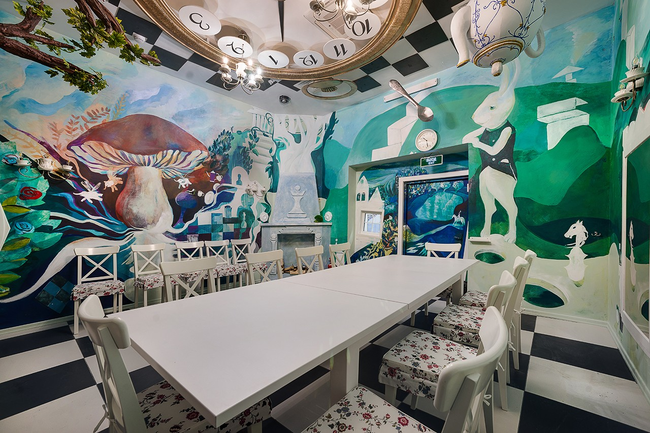 Interiors for children. Children's playrooms in the amusement park