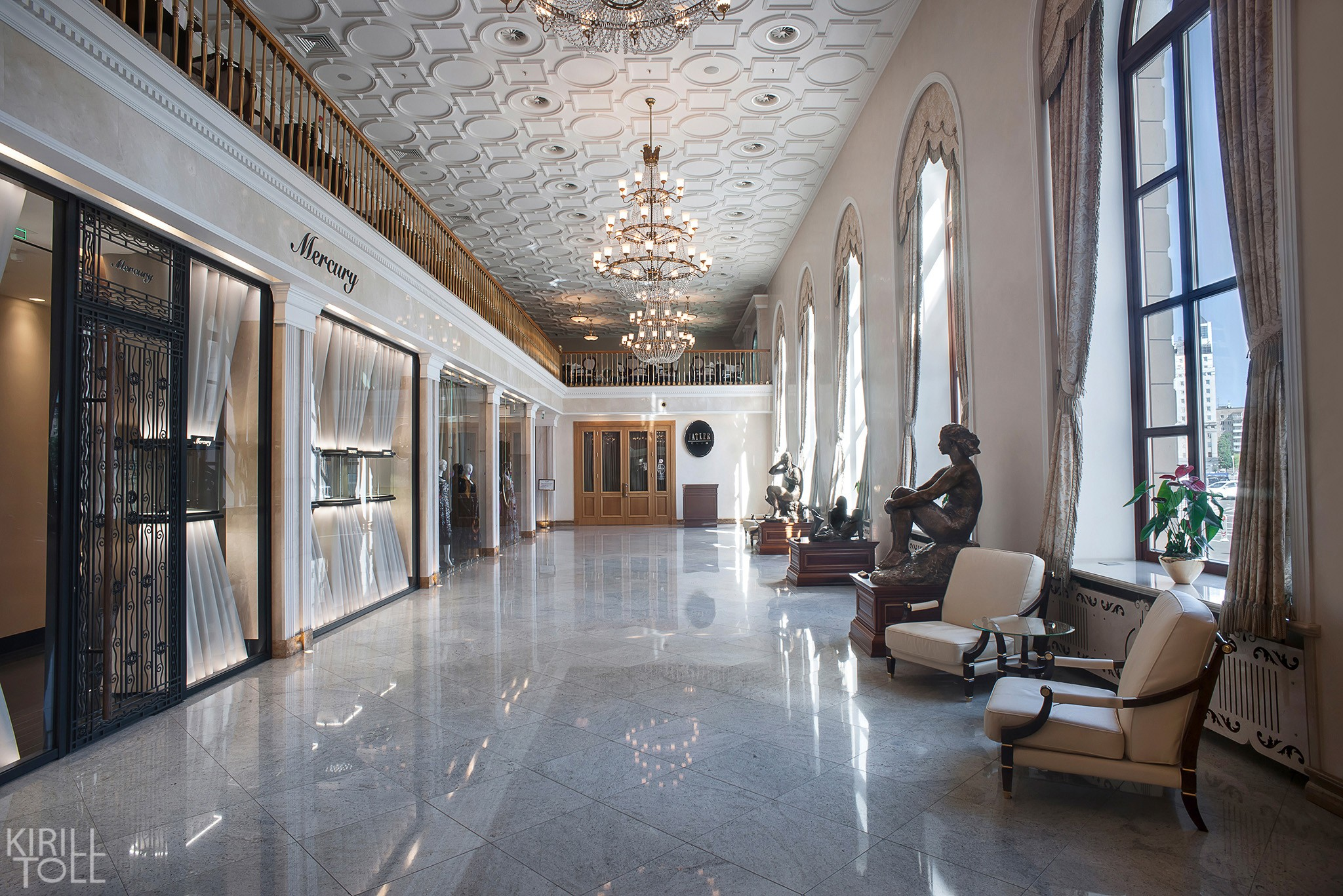 Hotel hall in Moscow interior photos
