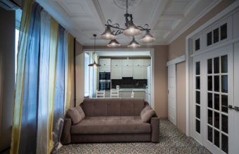 Interior photography of an apartment in the center of Moscow for a realtor and designer