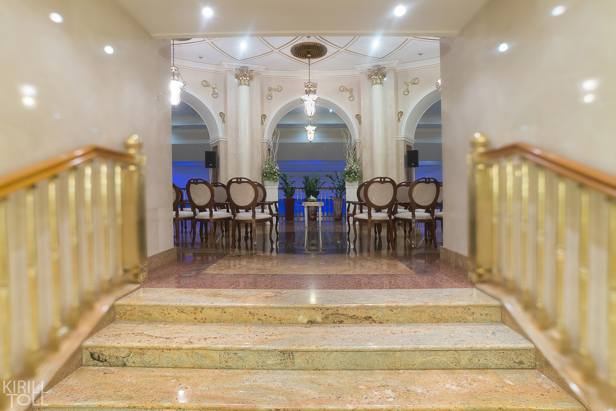 Professional photography of the halls and relaxation areas for the hotel