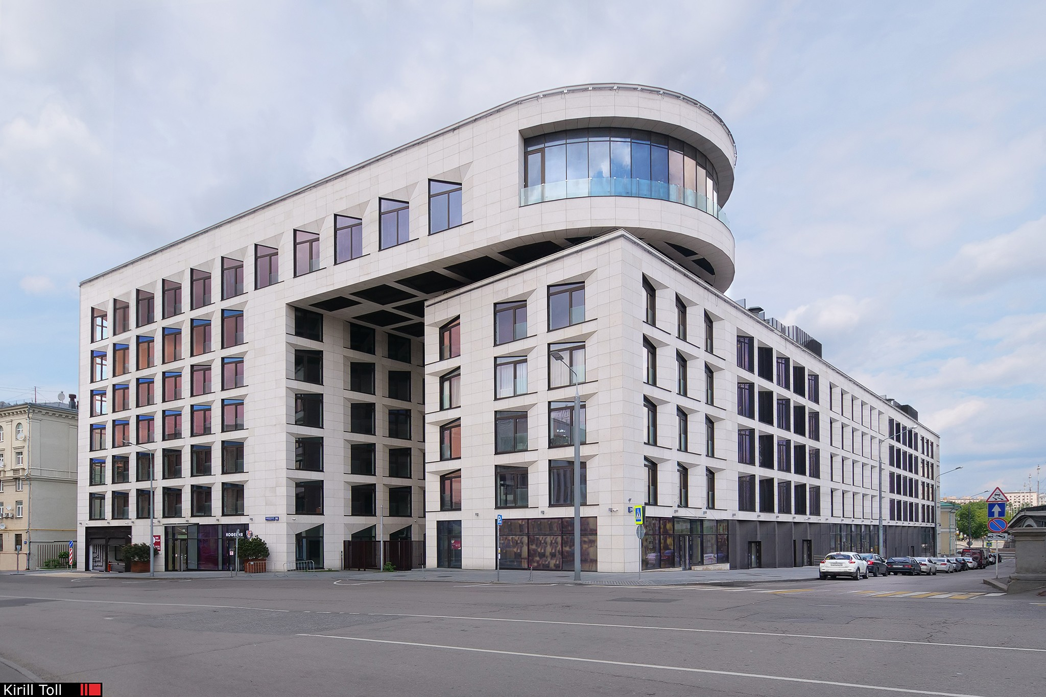 The building of the architect Hadi Teherani in Moscow