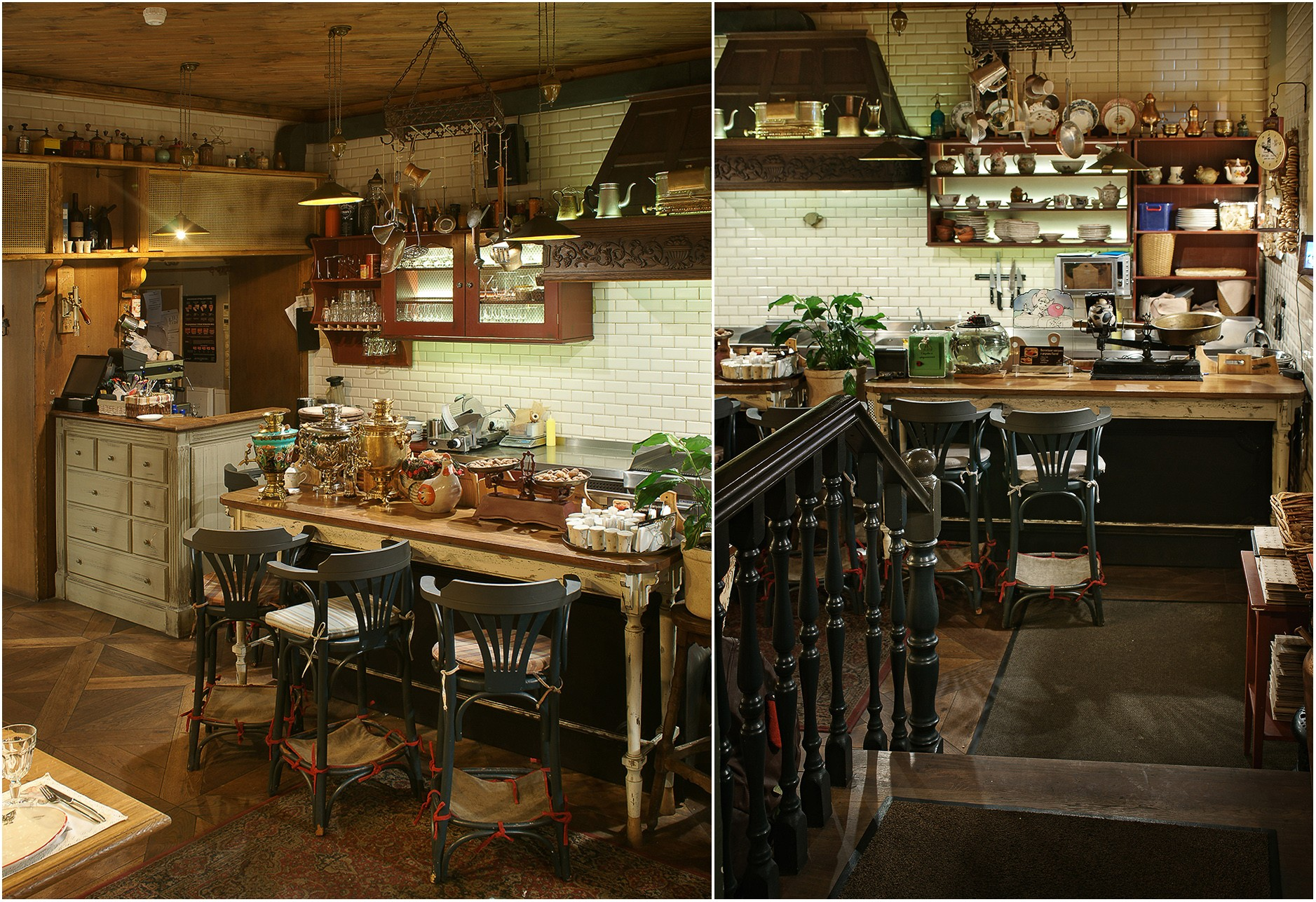 "Moscow restaurant ""Ded Pikhto"". Interior photography"