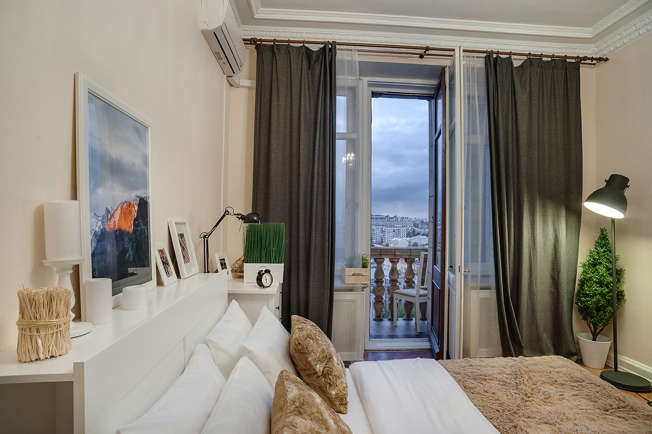 interior of a guest apartment in Moscow photography Kirill Toll